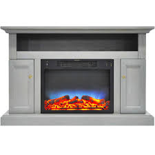 soro electric fireplace with multi color led insert and 47 in entertainment
