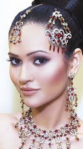indian bridal makeup soft wine tones