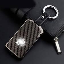 Generic <b>1Set Zinc Alloy</b>+Leather Keychain Car Key Protecting Shell ...