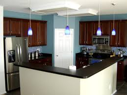 Kitchen Colors Walls Blue Kitchen Cherry Cabinets Quicuacom