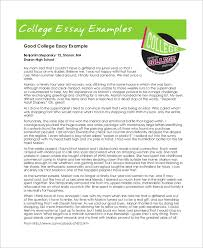 essay example samples in word pdf college essay example