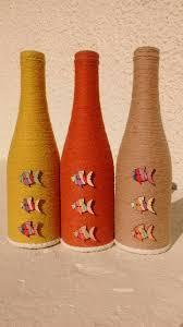 Wine Bottles Decor, Wine Bottle Crafts, Beer Bottles, Diy Bottle, Bottle  Art, Decorated Bottles, Mason Jars, Glass Craft, Sisal