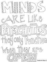 Inspirational Quotes Coloring Page Doodle Quotes Coloring Pages