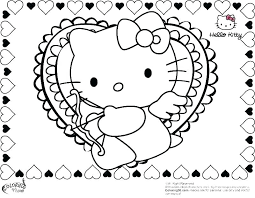 Coloring Page Of Hello Kitty Imscott Co