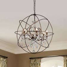 planetshaker ii 6 light antique bronze chandelier with shade