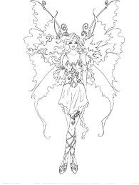 Pixie Coloring Pages Artist Brown Fairy Myth Mythical Mystical
