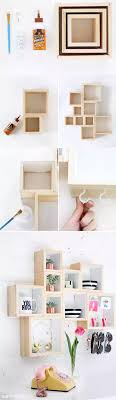 Pequea estantera con cajas de madera. Box ShelvesCube ...