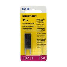amazon com bussmann bp cb211 15 rp 15 amp type i atm mini circuit amazon com bussmann bp cb211 15 rp 15 amp type i atm mini circuit breaker automotive
