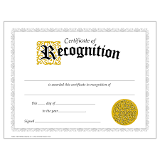 Sample Certificate Of Recognition For Outstanding Students
