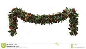 christmas-garland-decoration-isolated-white-background-d-render-