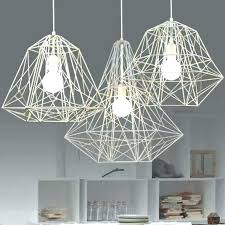 industrial cage pendant light cage light chandelier modern minimalist black white silver gold wrought iron cage