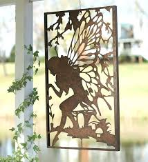 decoration metal garden wall decor enchanting outdoor fairy furniture design inspiration diy wood art