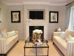 Small Picture Extraordinary Wallpaper Living Room Design Ideas Photos