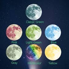 3D luminous lunar wallpaper 7 colors optional super bright moon wall ...