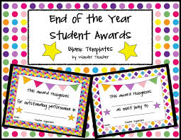 Free Award Certificate Templates For Students Elementary School End Of The Year Certificate Templates