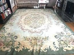 phoenix hand hooked wool area rug rare large elegant antique