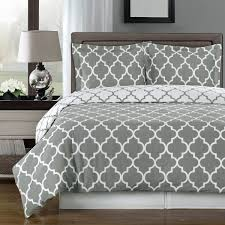 amazoncom gray and white meridian pc full  queen comforter set