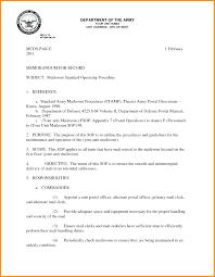 Memorandum Sample Army Memo Format Memorandum Sample 8 Discover China Townsf Admission
