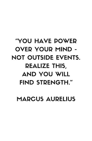 MARCUS AURELIUS Stoic Philosophy Quote ' Framed Print By Custom Philosophy Words About Life