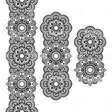 менди индийский татуировка хной длинные рисунком элементы дизайна