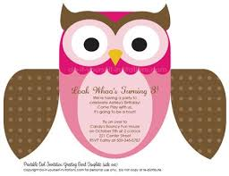 Diy Invitation Template Free Editable Owl Invitation Template Multiple Color