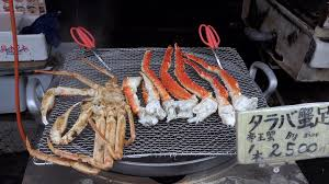 King crab on BBQ grill of restaurant ...