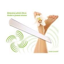 Skleněný Pilník Na Nehty Paty Nohy Dvoustranný Jemný A Hrubý 25cm