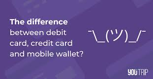 The best card to use overseas right now (until 29 feb 2020 at least) is the ocbc 90n card, because 4 mpd at a 3% fee is a good deal, even if your mileage valuation falls at the lower end of the spectrum. What Is The Difference Between Debit Card Credit Card And Mobile Wallet Blog Youtrip Singapore