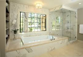 san francisco spa like bathroom traditional with alcove tub nickel sink faucets glass shower doors