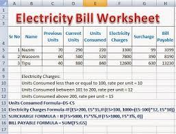 excel bill perfect computer notes electricity bill calculator formulas
