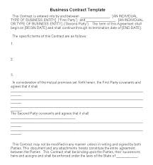Template Of A Contract Between Two Parties Examples Of Contracts Between Two Businesses Example Of Business
