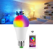 Magic Living Led Push Light Us 2 99 40 Off Smart Dimmable Led Bulb Bluetooth App Led Lamp Bulb E27 Rgb 15w Ac85 265v Wireless Magic Led Lamp Music Control Home Lighting In Led