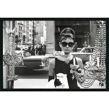 most recent framed art print audrey hepburn breakfast at tiffany s window 38 with glamorous on audrey hepburn breakfast at tiffanys wall art with displaying gallery of glamorous audrey hepburn wall art view 2 of
