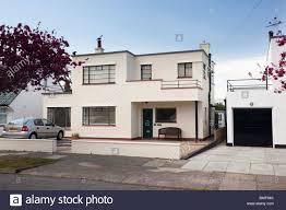 Art Deco style house at Frinton On Sea, Essex, UK