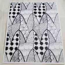 Geometric pattern coloring pages are a fun way to teach your children about geometry shapes, tessellation and rotational. Hand Drawn Adult Coloring Page Pattern Tessellation Etsy