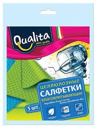 Купить <b>Салфетки для уборки</b> Qualita влаговпитывающие, <b>5</b> шт с ...