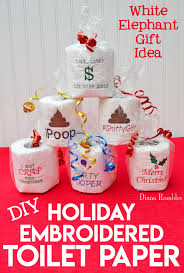 embroidered toilet paper embroider a roll of toilet paper to create the ultimate white elephant
