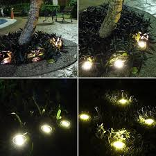 in ground lighting. 8 LED Solar Buried Light Under Ground Lamp Outdoor Path Way Garden In Lighting