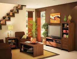 Wall Paints For Living Room Excellent Small Apartment Living Room Idea With Brown And Cream