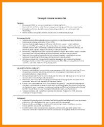 Qualifications Summary Examples Mesmerizing Resume Career Summary Examples New Example Of Resume Summary Unique