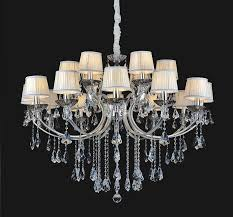 milk yellow acrylic shade crystal chandelier with chic davit