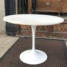 mid century modern dining table featuring a newly painted eero saarinen tulip base with 36