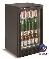 solid under counter fridge glass door single glass door under counter beer chiller fridge ce rohs saa