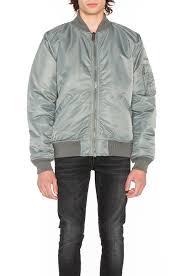 schott nylon flight jacket grey men jackets coats schott leather jackets uk
