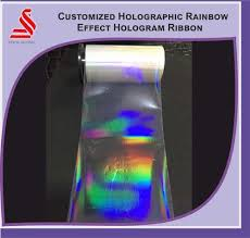 At Holographic Effect 15 Ribbon Rainbow Overlay New piece Rs qAIxAf7O