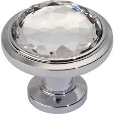crystal furniture knobs. Legacy Crystal Collection 1-1/4 In. Matte Black Round Cabinet Knob (YOW-576471) Furniture Knobs O