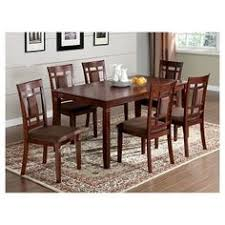 mibasics 7pc gridded and padded chair back wood dark cherry redwood brown