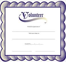 Volunteer Certificate Of Appreciation Templates Volunteer Certificates Templates Rome Fontanacountryinn Com