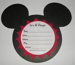 Make Your Own Mickey Mouse Invitations Mickey Mouse Party Invitations Mickey Mouse Party Invitations With