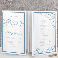 Wedding Booklet Template Foldover Wedding Program Template Booklet Beloved Cornflower Blue